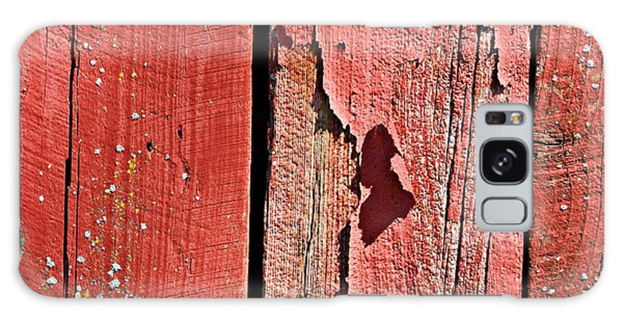 Barn Galaxy S8 Case featuring the photograph Red Peeling Paint- Fine Art by KayeCee Spain