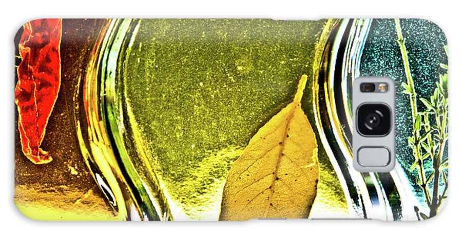 Red Pepper Galaxy S8 Case featuring the photograph Red Pepper Bay Leaf And Thyme by Onyonet Photo Studios