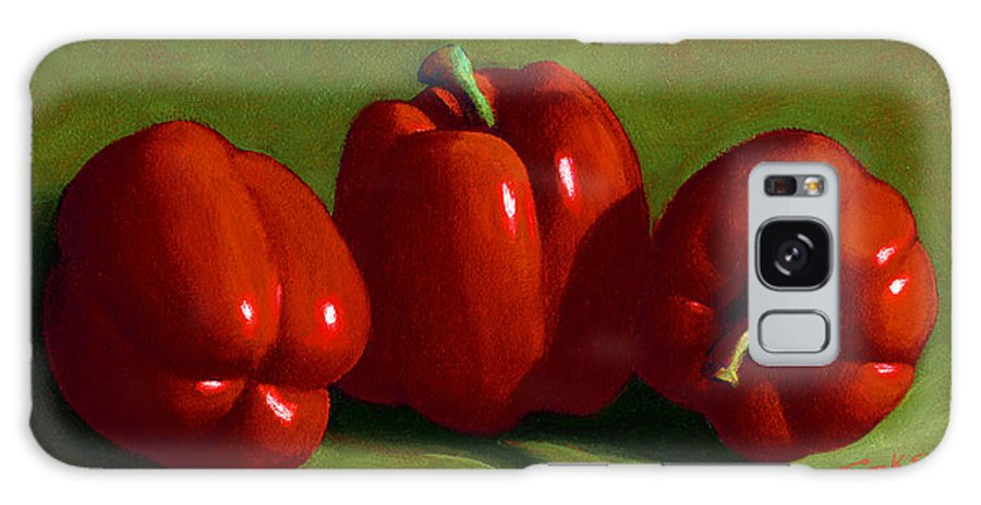 Red Peppers Galaxy S8 Case featuring the painting Red Peppers by Frank Wilson