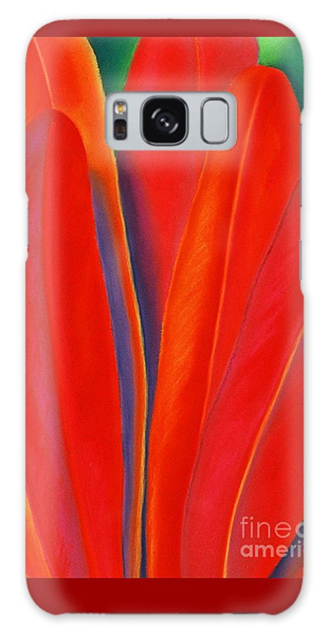 Red Galaxy S8 Case featuring the painting Red Petals by Lucy Arnold