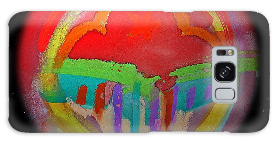 Landscape Galaxy Case featuring the painting Red Planet by Charles Stuart