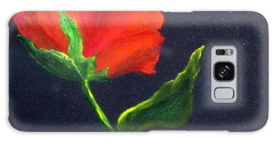 Red Poppie Galaxy S8 Case featuring the painting Red Poppie by Lynda McDonald