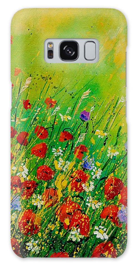 Flowers Galaxy S8 Case featuring the painting Red Poppies 450708 by Pol Ledent