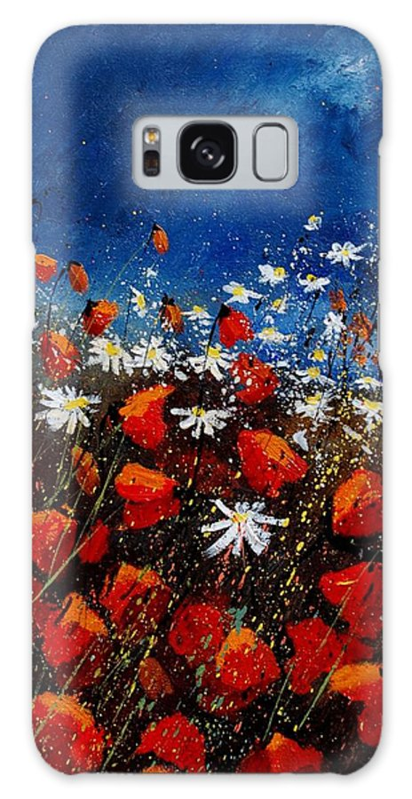 Flowers Galaxy Case featuring the painting Red Poppies 451108 by Pol Ledent