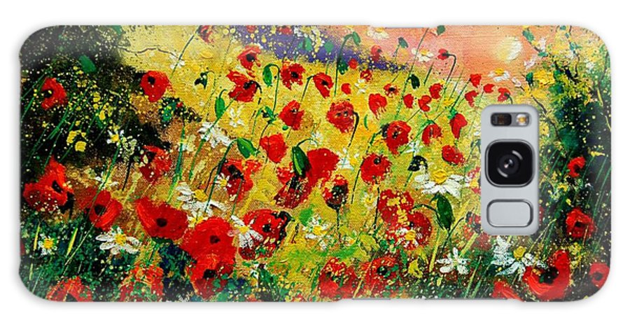 Tree Galaxy S8 Case featuring the painting Red Poppies by Pol Ledent
