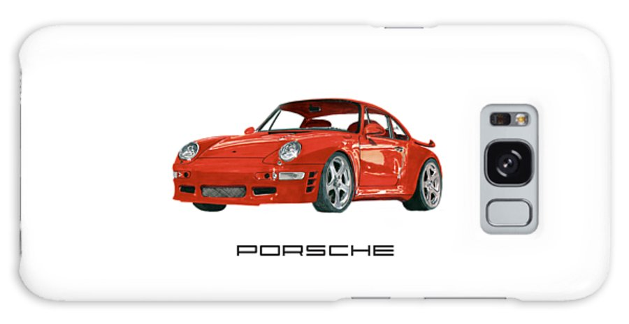 1997 Galaxy S8 Case featuring the painting 1997 Porsche 993 Twin Turbo R by Jack Pumphrey