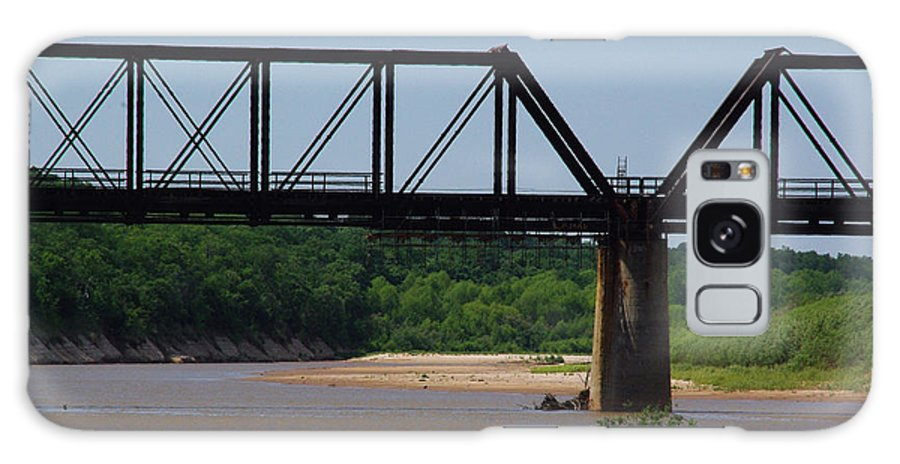 Red River Galaxy S8 Case featuring the photograph Red River Railroad Crossing by Robyn Stacey