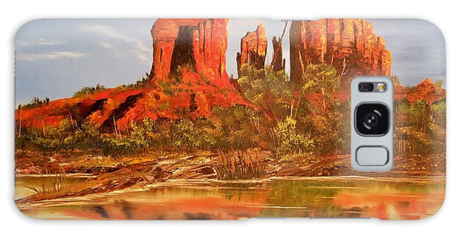 Rocks Galaxy S8 Case featuring the painting Red Rock by Patrick Trotter