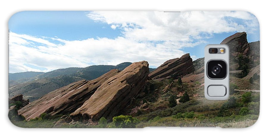 Red Rocks Galaxy Case featuring the photograph Red Rocks Denver by Margaret Fortunato