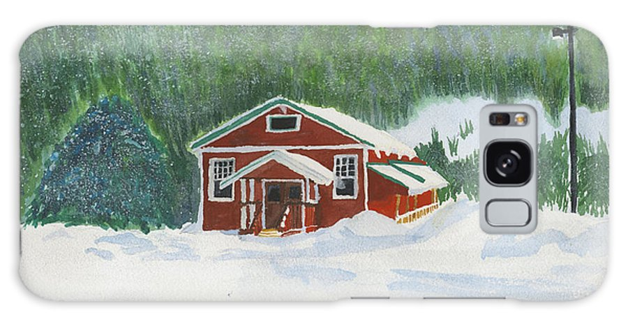 Schoolhouse Galaxy S8 Case featuring the painting Red School House by Louise Magno