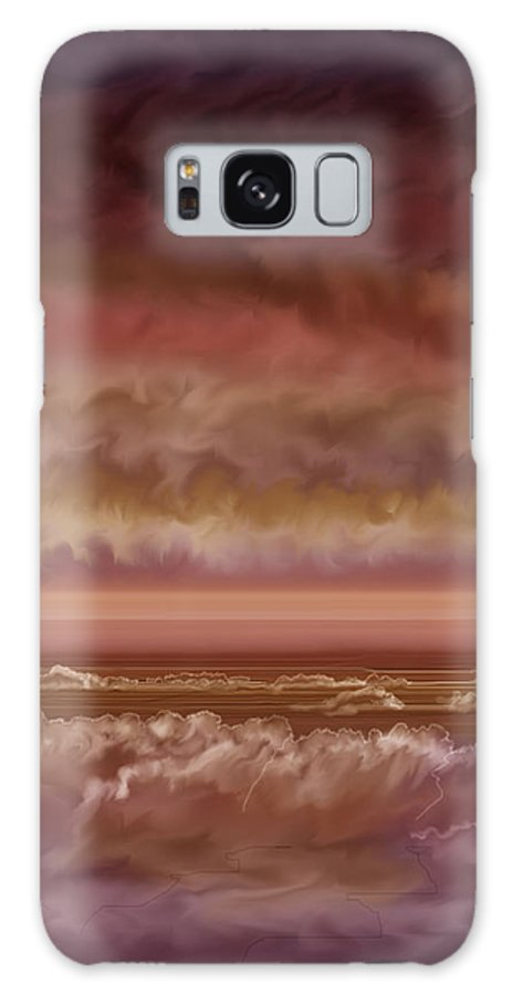 Sunset Galaxy Case featuring the painting Red Sky At Night Sailor Delight by Anne Norskog