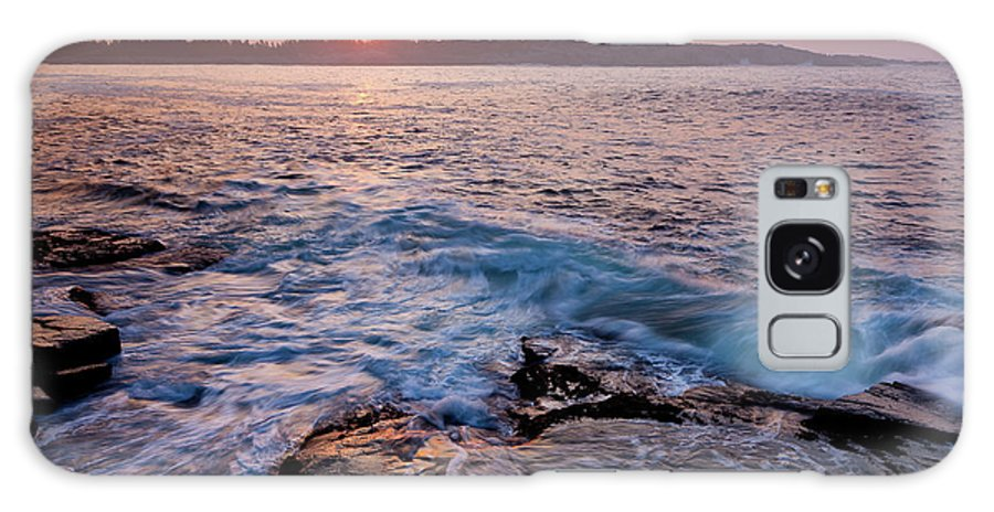 Acadia National Park Galaxy S8 Case featuring the photograph Red Sky In The Morning by Susan Cole Kelly