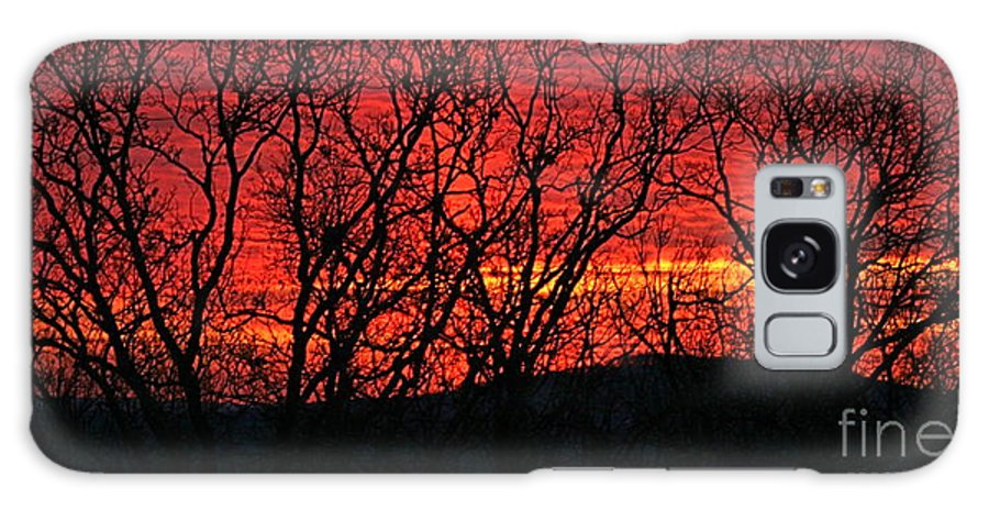 Sunrise Galaxy Case featuring the photograph Red Sunrise Over The Ozarks by Nadine Rippelmeyer