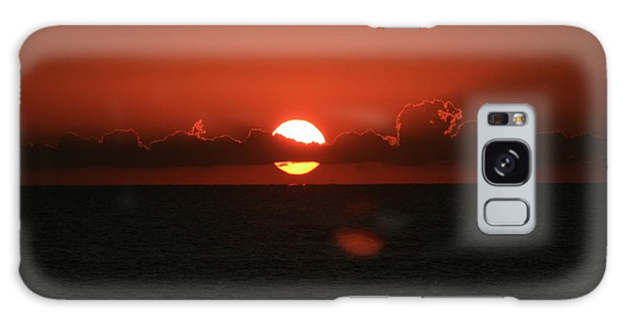 Sunset Galaxy Case featuring the photograph Red Sunset Over The Atlantic by Nadine Rippelmeyer