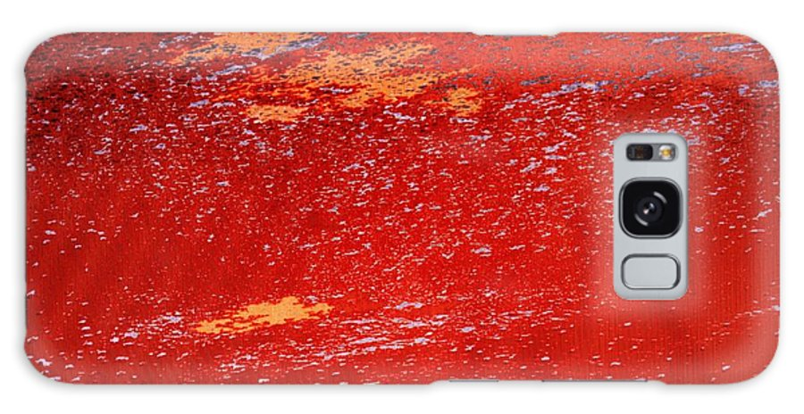 Red Galaxy Case featuring the photograph Red Surf On The Beach by Ian MacDonald