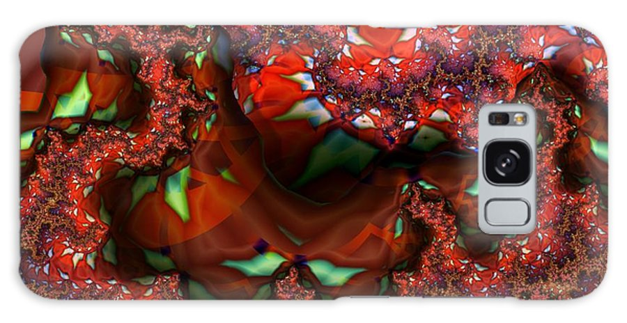 Berry Galaxy S8 Case featuring the digital art Red Thread by Ron Bissett