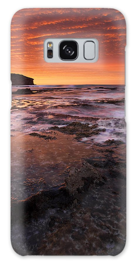 Sunrise Galaxy S8 Case featuring the photograph Red Tides by Mike Dawson