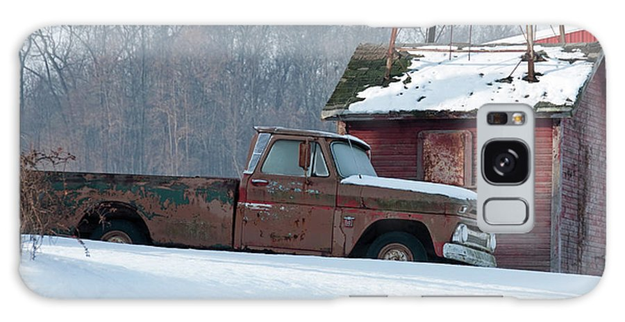 Truck Galaxy S8 Case featuring the photograph Red Truck In The Snow by David Arment