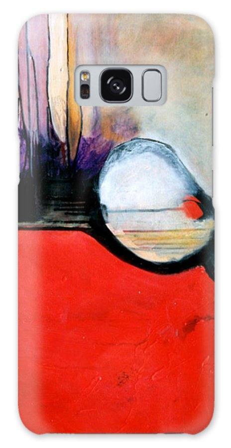 Abstract Galaxy Case featuring the painting Red Twin Leaps And Bounds by Marlene Burns