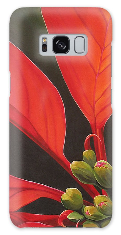 Poinsettia Closeup Galaxy S8 Case featuring the painting Red Velvet by Hunter Jay