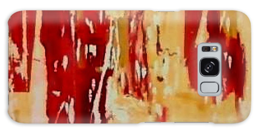 Abstract Galaxy S8 Case featuring the painting Red Visions by Vicki Lynn Sodora