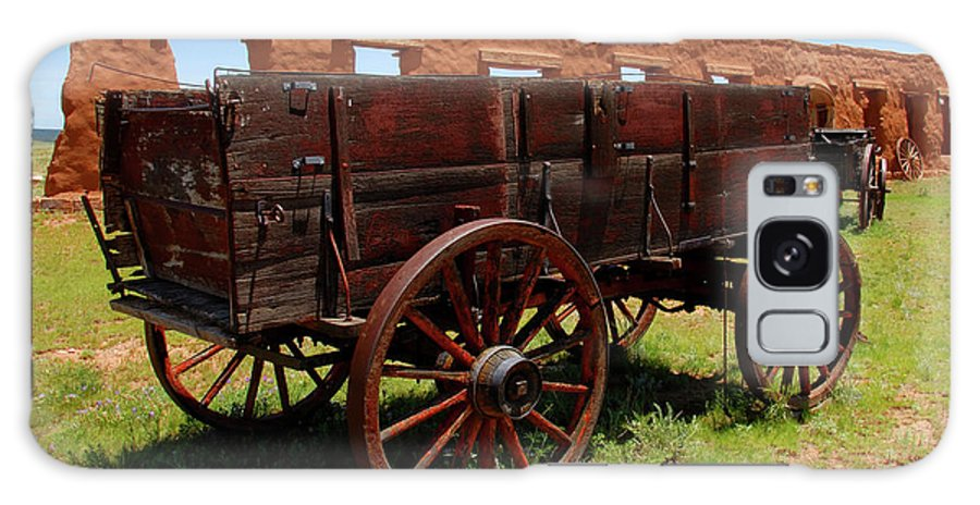 Fine Art Photography Galaxy S8 Case featuring the photograph Red Wagon by David Lee Thompson