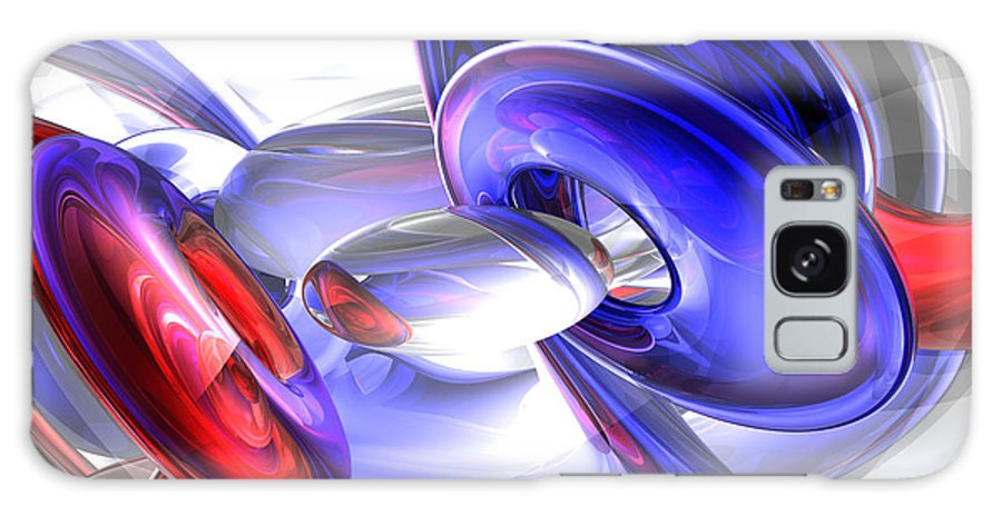 3d Galaxy S8 Case featuring the digital art Red White And Blue Abstract by Alexander Butler