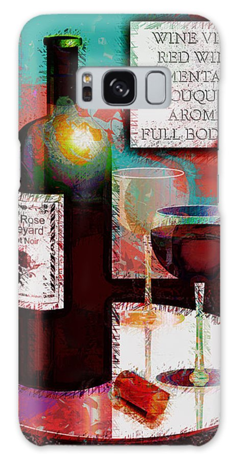 Wine Galaxy S8 Case featuring the digital art Red Wine For Two by Arline Wagner