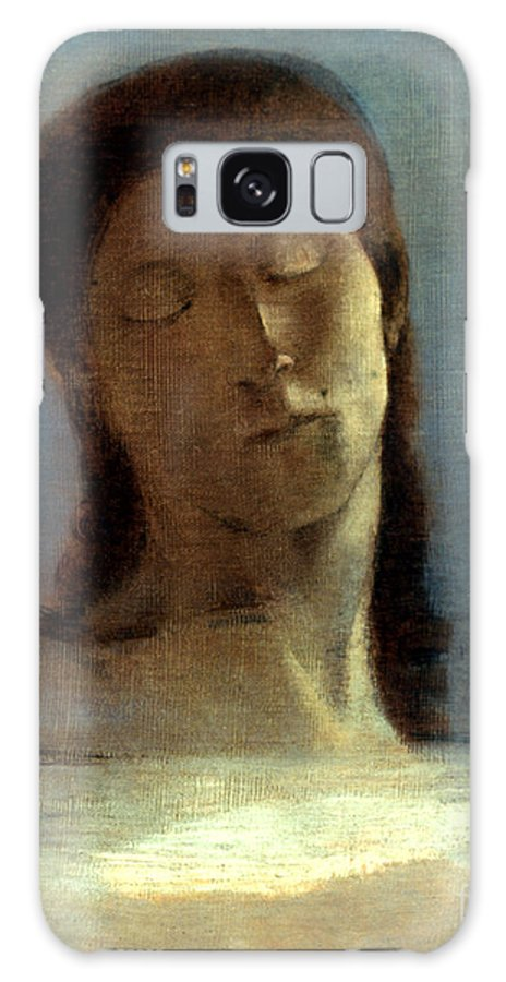 1890 Galaxy S8 Case featuring the photograph Redon: Closed Eyes, 1890 by Granger