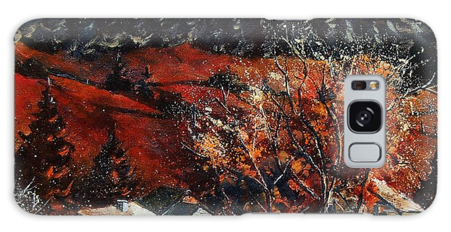 Tree Galaxy S8 Case featuring the painting Redu Village Belgium by Pol Ledent
