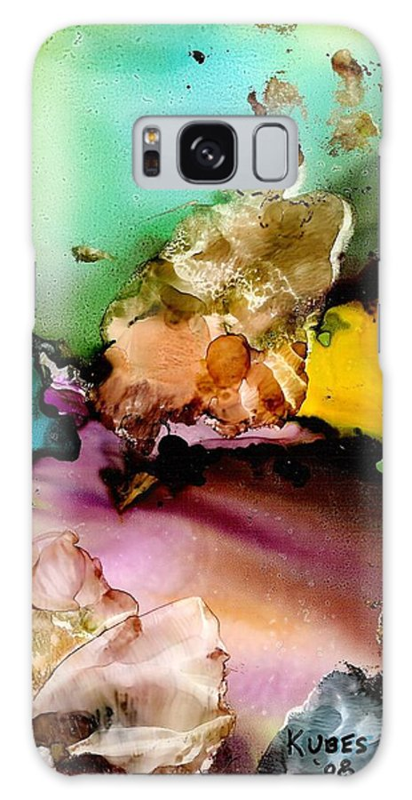 Reef Galaxy Case featuring the mixed media Reef 3 by Susan Kubes