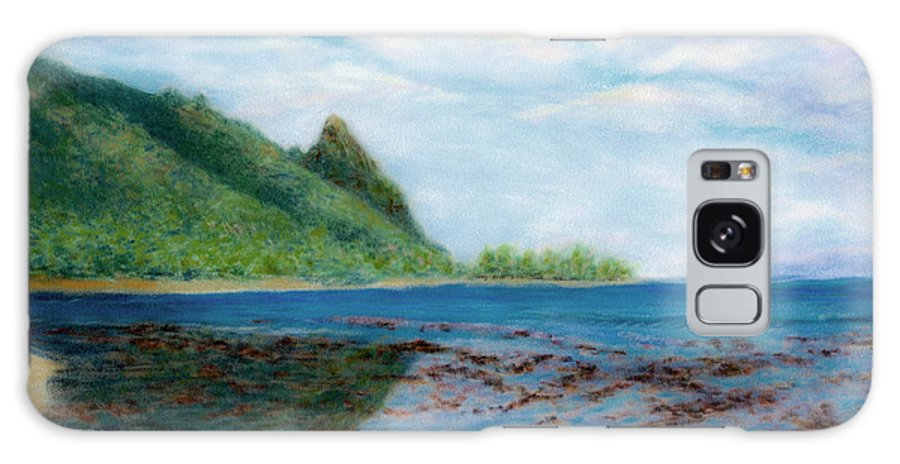 Rainbow Colors Pastel Galaxy Case featuring the painting Reef Walk by Kenneth Grzesik