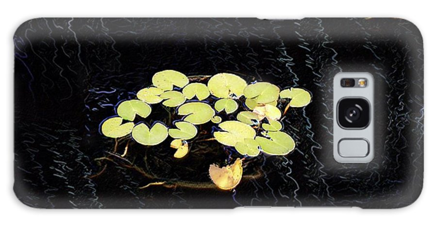 Lillies Galaxy S8 Case featuring the digital art Reflecting Pool Lilies by Tim Allen