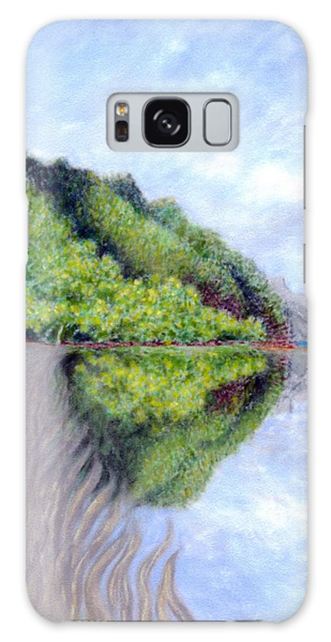 Coastal Decor Galaxy Case featuring the painting Reflection by Kenneth Grzesik