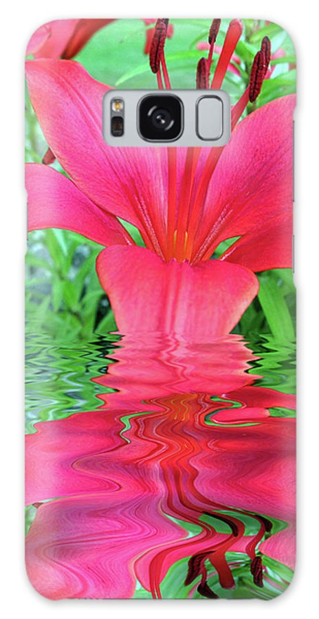 Lily Galaxy S8 Case featuring the digital art Reflection Of Life by Robert Nacke