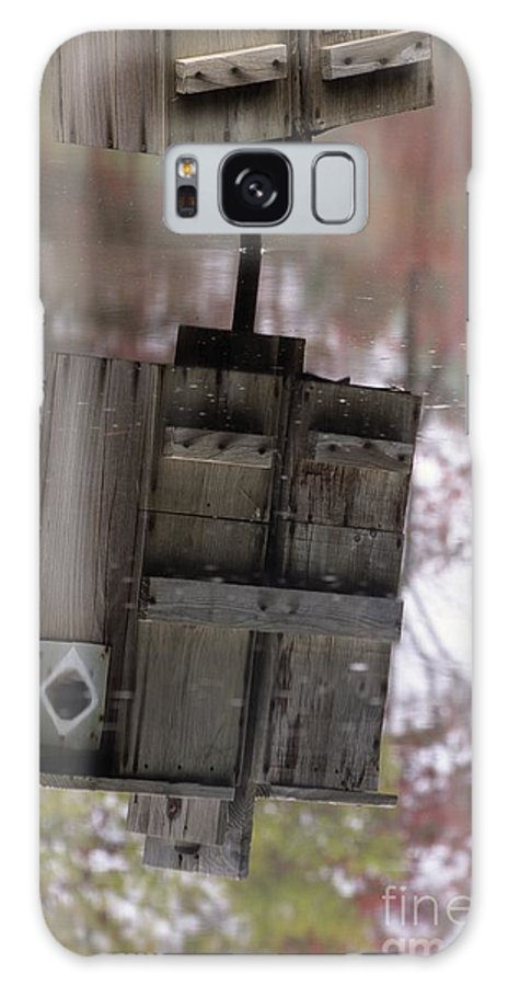 Wood Duck Galaxy S8 Case featuring the photograph Reflection Of Wood Duck Box In Pond by Erin Paul Donovan