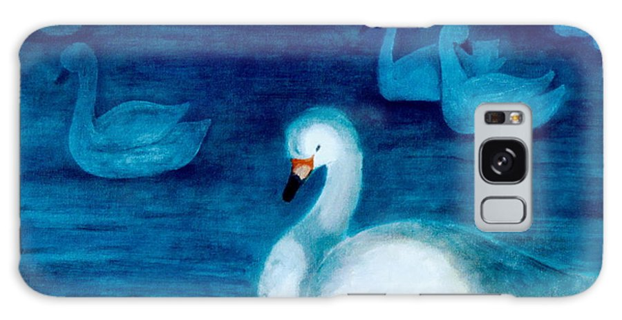 Duck Galaxy Case featuring the painting Reflections 1 by Jun Jamosmos
