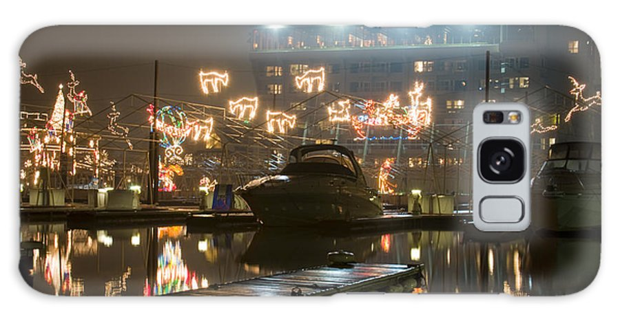 Christmas Lights Galaxy Case featuring the photograph Reflections Of Christmas by Idaho Scenic Images Linda Lantzy