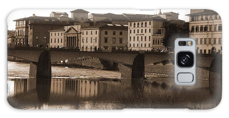 Sepia Galaxy S8 Case featuring the photograph Reflections Of Florence by Donna Corless