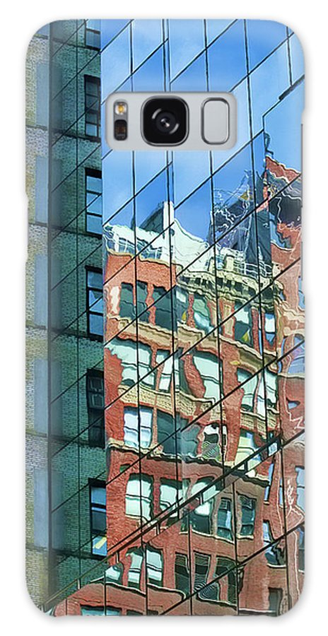 Manhattan Galaxy S8 Case featuring the photograph Reflections Of Manhattan by Terry Fiala