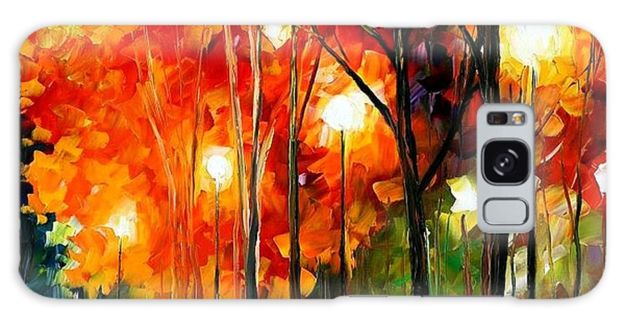 Afremov Galaxy S8 Case featuring the painting Reflections Of The Night by Leonid Afremov