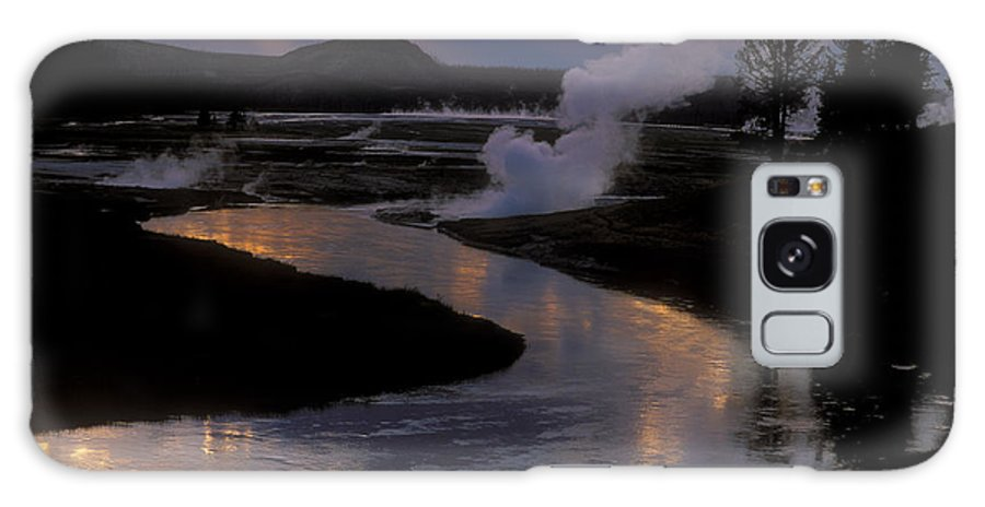 Yellowstone National Park Galaxy S8 Case featuring the photograph Reflections On The Firehole River by Sandra Bronstein