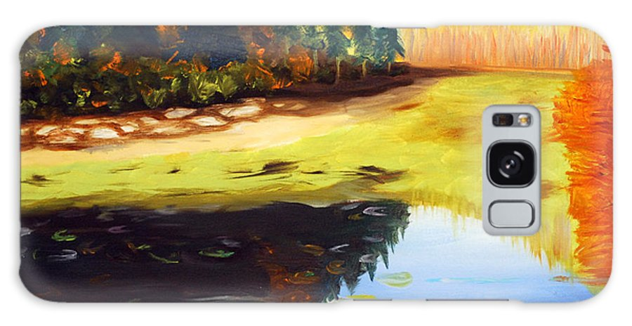 Landscape Galaxy S8 Case featuring the painting Reflections by Phil Burton