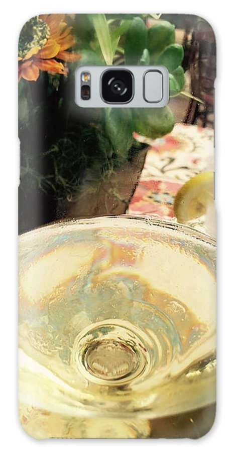 Wine Glass Water Flowers Reflection Still Life Color Galaxy S8 Case featuring the photograph Reflections by Russell Keating