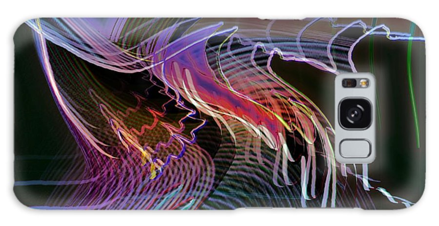 Drawing Galaxy S8 Case featuring the digital art Reflexions Blue by Helmut Rottler