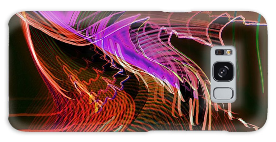 Drawing Galaxy S8 Case featuring the digital art Reflexions Red by Helmut Rottler