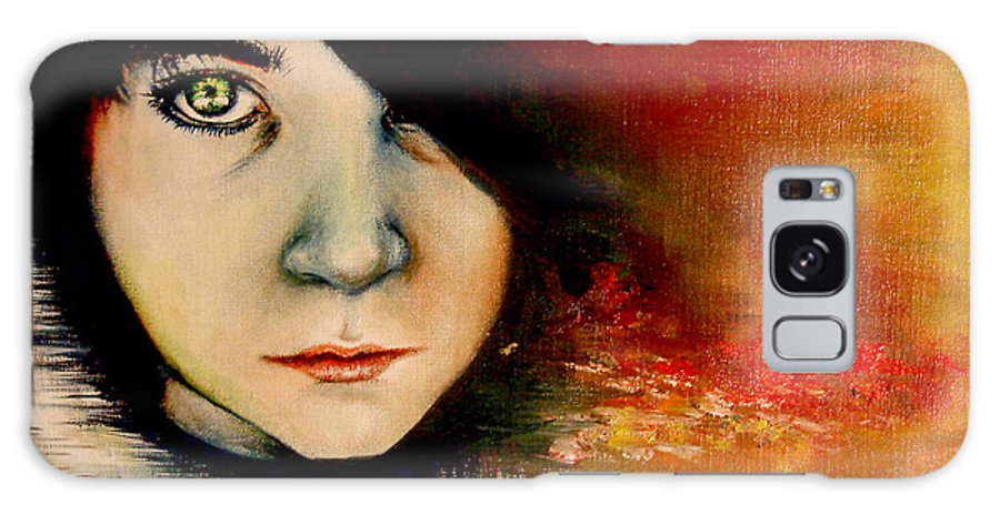 Sunset Galaxy Case featuring the painting Regaining Strenght by Freja Friborg