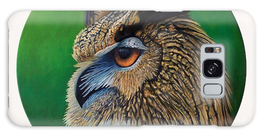 Owl Galaxy Case featuring the painting Regal Gaze by Brian Commerford