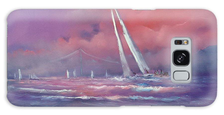 Sailing Galaxy S8 Case featuring the painting Regatta by Sally Seago