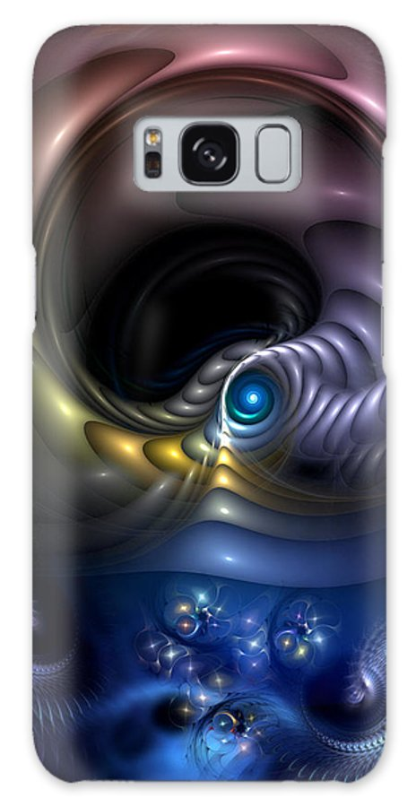 Abstract Galaxy S8 Case featuring the digital art Reincarnation - The Quandary by Casey Kotas